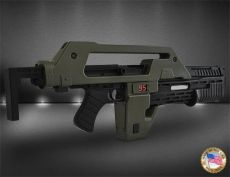 Aliens Replika 1/1 Pulse Rifle OD Green Exclusive 68 cm