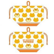 My Neighbor Totoro Laundry Storage Bag Catbus Silhouette 17 x 26 x 12 cm