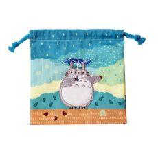 My Neighbor Totoro Laundry Storage Bag Totoro under the rain 20 x 19 cm