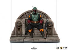 Star Wars The Mandalorian Deluxe Art Scale Soška 1/10 Boba Fett on Throne 18 cm