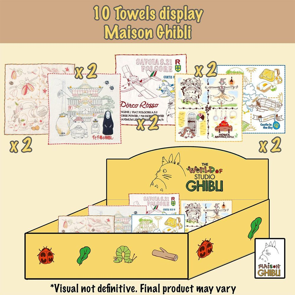 Studio Ghibli Mini Towels 25 x 25 cm Display (10) Marushin