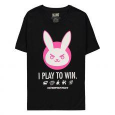 Overwatch Tričko D.VA Play's to Win! Velikost S