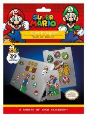 Super Mario Tech Nálepka Pack Mushroom Kingdom (10)