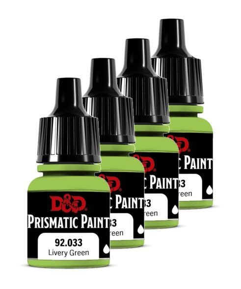 D&D Prismatic Paint for Miniatures 92.033 Livery Green 8 ml (carton of 4) Wizkids