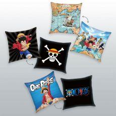 One Piece Polštáře 3-Pack Characters 40 x 40 cm