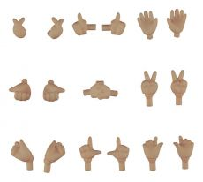 Original Character Parts for Nendoroid Doll Figures Hand Parts Set 02 (Cinnamon)