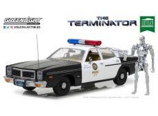 Terminator Kov. Model 1/18 1977 Dodge Monaco Metropolitan Police with Figure