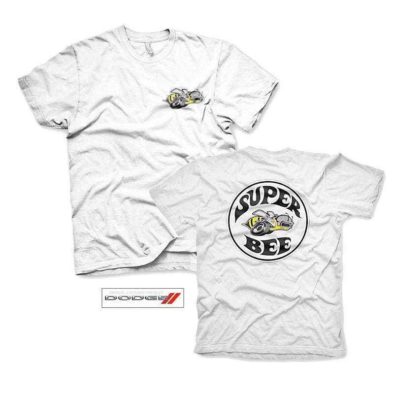 f82d0c0fa548 Bílé pánské tričko s potiskem Dodge Super Bee Licenced
