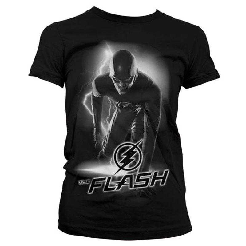 Dámské tričko s potiskem Flash Ready Licenced