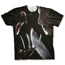 Pánské tričko Freddy vs Jason Allover