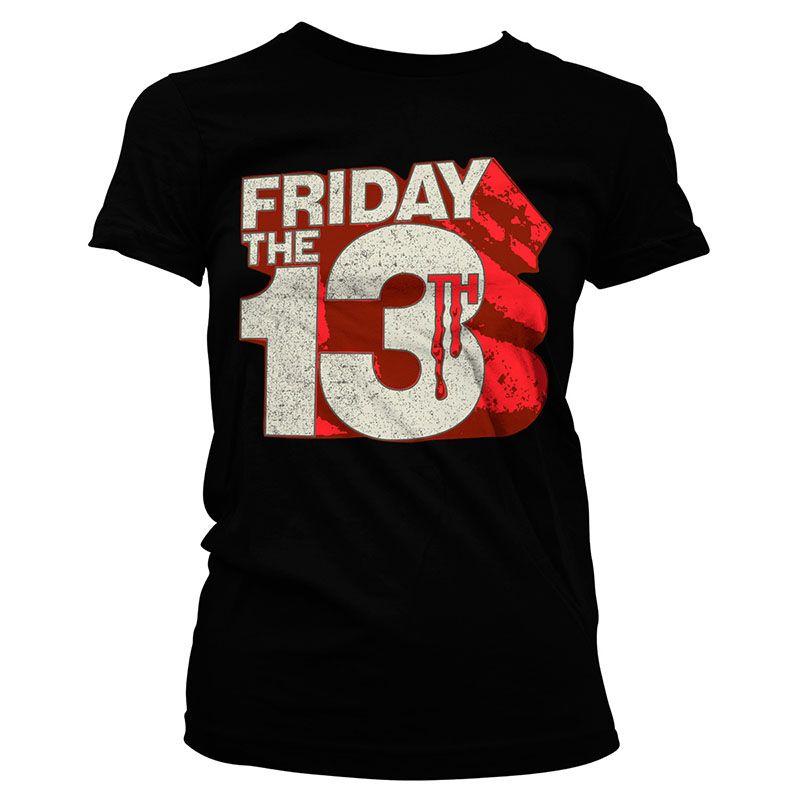 Friday The 13th Dámské tričko s potiskem Block Logo Licenced