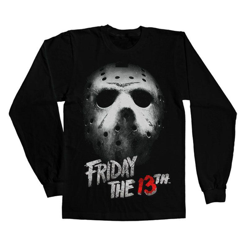 Friday The 13th tričko s dlouhým rukávem Mask Licenced
