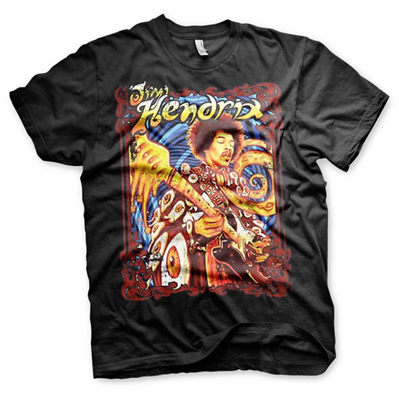 Jimi Hendrix pánské tričko s potiskem Colorful Licenced