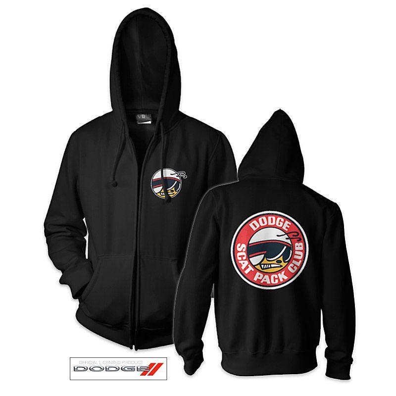Mikina s kapucí a zipem Dodge Scat Pack Licenced