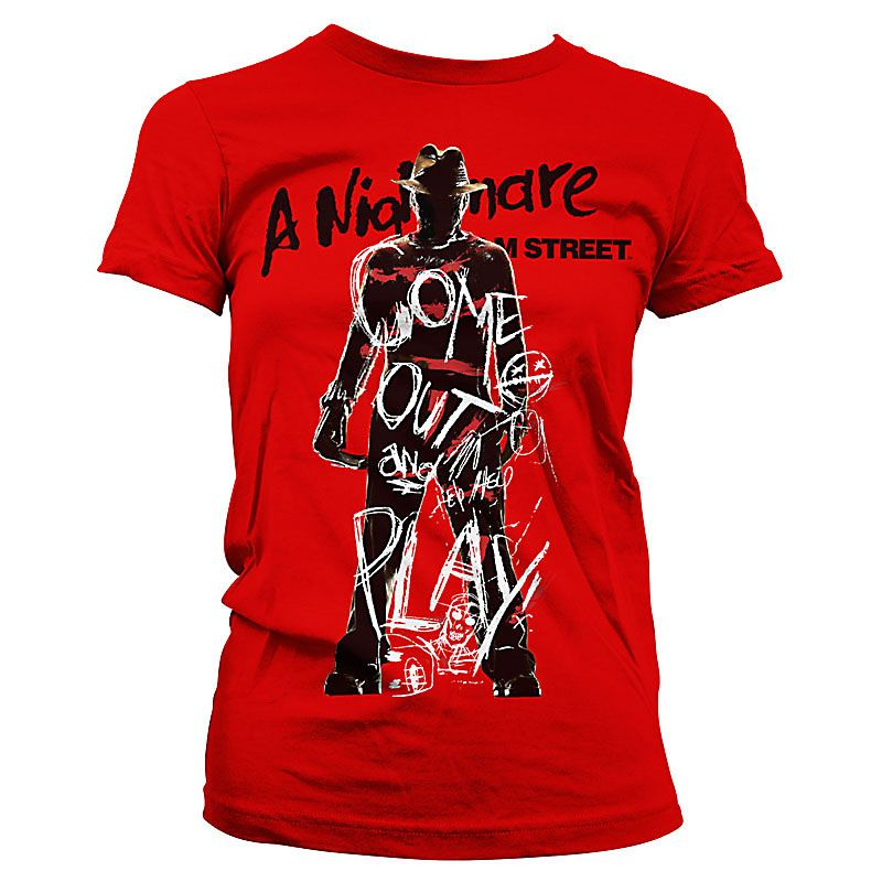 Nightmare On Elm Street dámské tričko s potiskem Come Out And Play Licenced