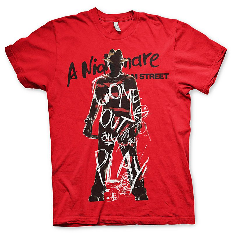 Nightmare On Elm Street pánské tričko s potiskem Come Out And Play Licenced