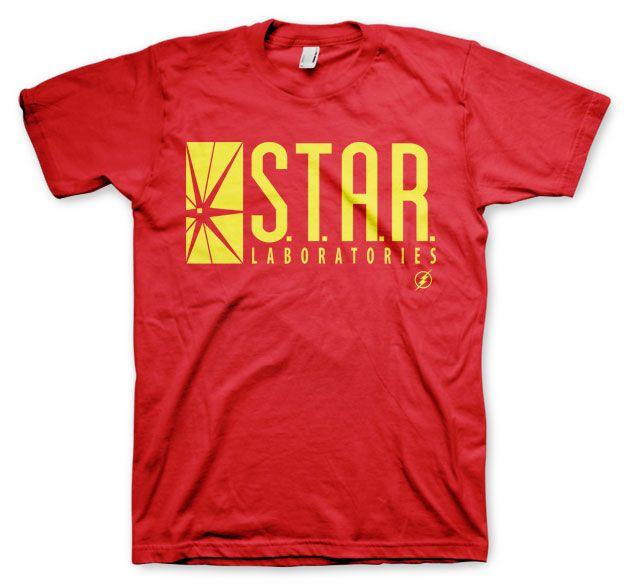 Pánské tričko s potiskem Flash Star Laboratories Licenced