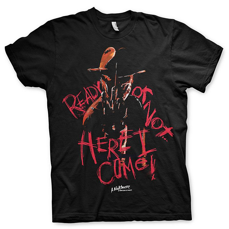 Pánské tričko s potiskem Here I Come Nightmare On Elm Street Licenced