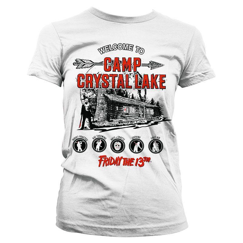 Pátek 13. dámské tričko s potiskem Camp Crystal Lake Licenced