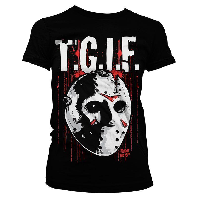 Pátek 13. dámské tričko s potiskem T.G.I.F. Licenced