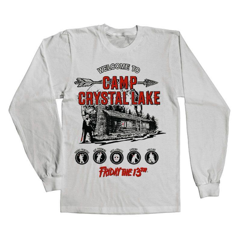 Pátek 13. tričko s dlouhým rukávem Camp Crystal Lake Licenced