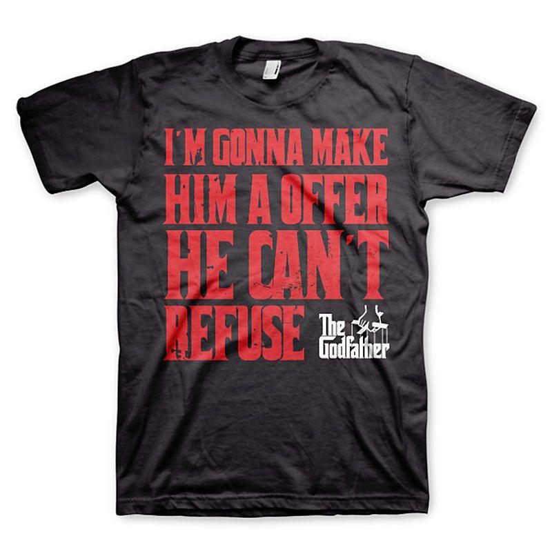 The Godfather pánské tričko s potiskem I´m Gonna Make Him A Offer Licenced