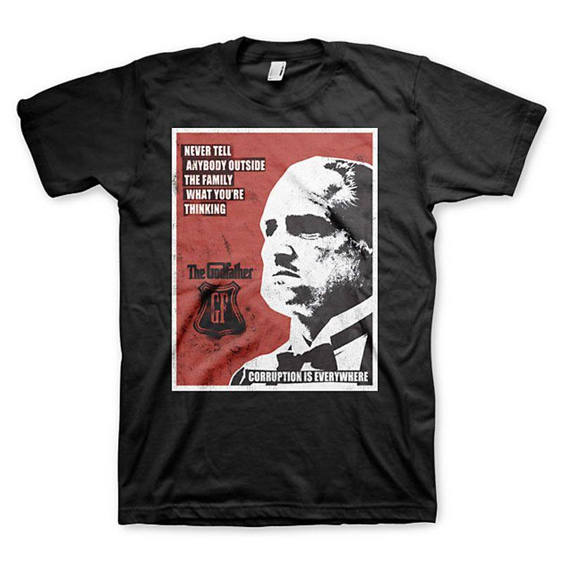 The Godfather pánské tričko s potiskem Never Tell Anybody Licenced