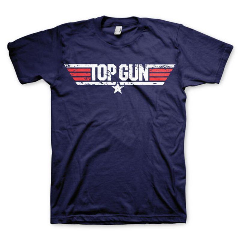 Top Gun pánské tričko s potiskem Distressed Logo Licenced