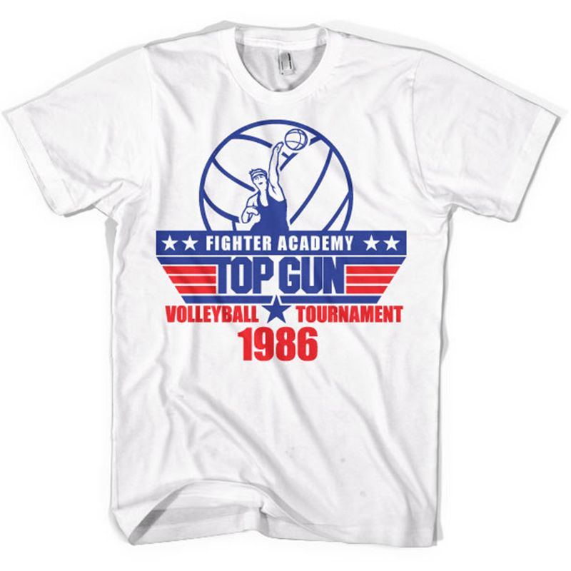 Top Gun pánské tričko s potiskem Volleyball Tournament Licenced