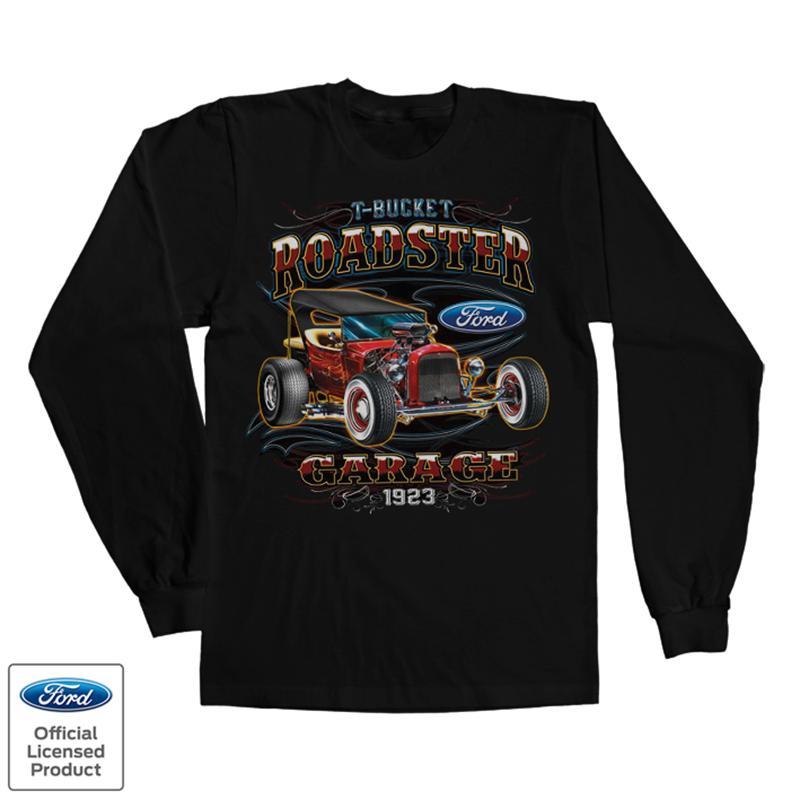 Tričko s dlouhým rukávem a potiskem Ford T-Bucket Roadster Licenced
